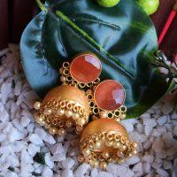 Designer-Stone-Light-Pink-Jaipuri-Jhumka-With-Beads (1)
