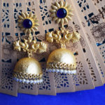 Lovebirds-Blue-Stone-Jaipuri-Jhumka-With-Beads
